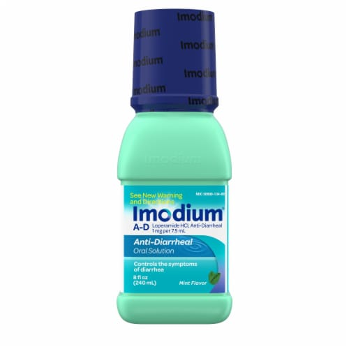 Imodium A-D Mint Flavor Anti-Diarrheal Oral Solution Perspective: front