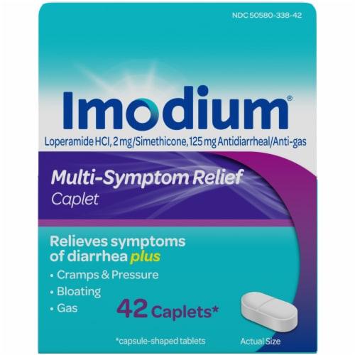Imodium Multi-Symptom Relief Caplets Perspective: front