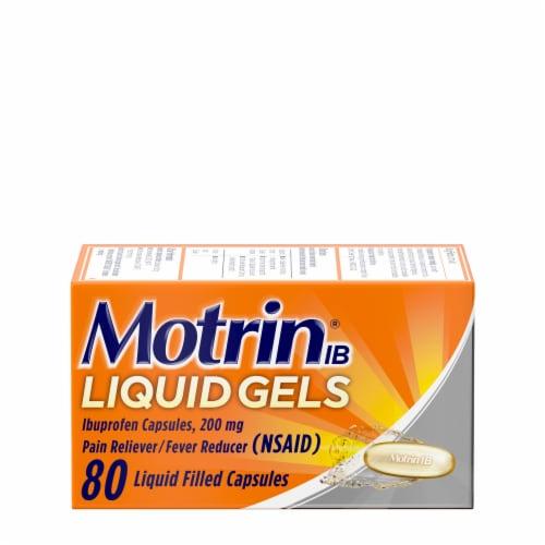 Motrin Liquid Gels Ibuprofen Capsules 200mg Perspective: front
