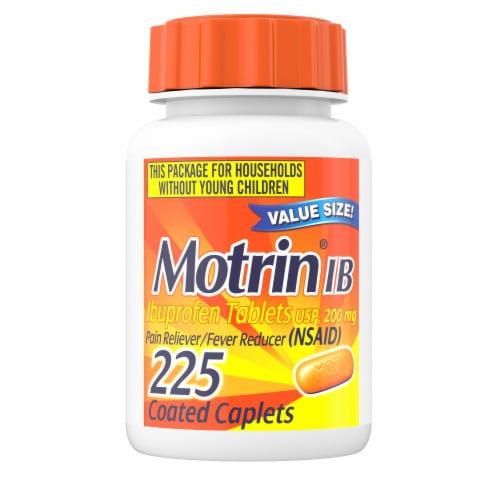 Motrin Ibuprofen Caplets 200mg Perspective: front