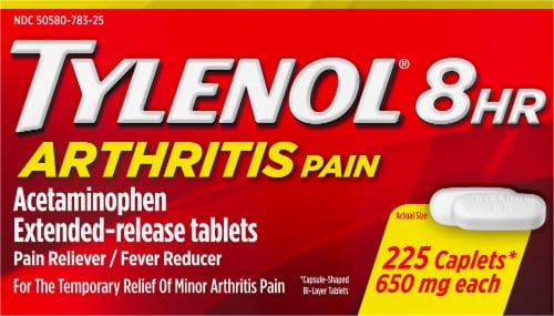 Tylenol 8-Hour Arthritis Pain Extended Release Tablets 650mg Perspective: front