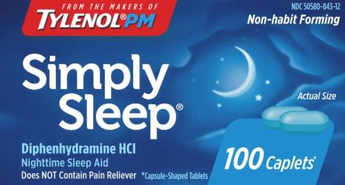 Tylenol PM Simply Sleep Night-Time Sleep Aid Caplets 25mg Perspective: front