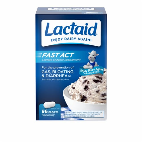 Lactaid Fast Act Lactase Enzyme Supplement Perspective: front