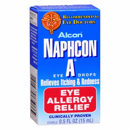Alcon Naphcon A Eye Allergy Relief Eye Drops Perspective: front