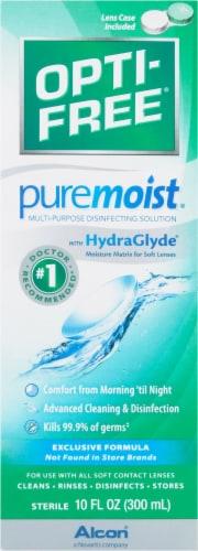 Opti-Free PureMoist Multi-Purpose Disinfecting Solution Perspective: front