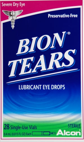 Alcon Bion Tears Lubricant Eye Drops Perspective: front