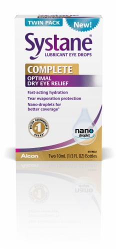 Alcon Systane Complete Optimal Dry Eye Relief Drops Twin Pack Perspective: front