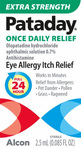 Pataday Once Daily Extra Strength Eye Allergy Itch Relief Solution Perspective: front