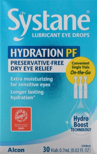 Systane Hydration PF Lubricant Eye Drops Perspective: front