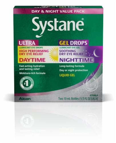 Systane Day & Night Dry Eye Relief Value Pack Perspective: front