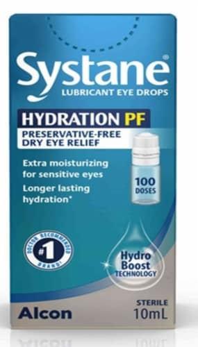 Systane Hydration Multi-Dose Preservative-Free Lubricant Eye Drops Perspective: front