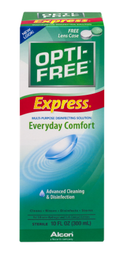 Alcon Opti-Free Express Everyday Comfort Multi-Purpose Disinfection Solution Perspective: front