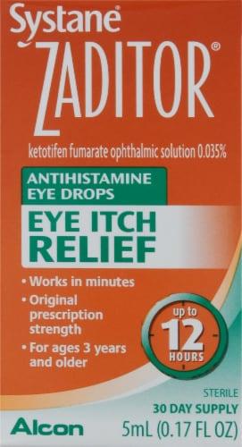 Alcon Zaditor Antihistamine Eye Drops Perspective: front