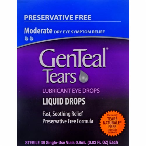 Genteal Tears Liquid Lubricant Eye Drop Vials Perspective: front