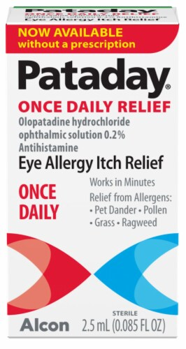 Pataday Once Daily Eye Allergy Itch Relief Eye Drops Perspective: front