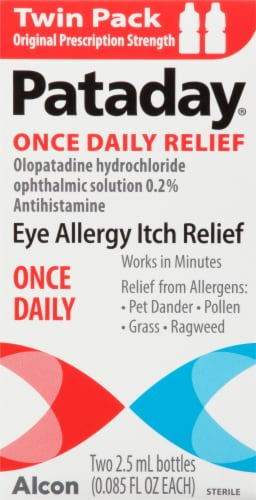 Pataday Once Daily Allergy Relief Eye Drops Twin Pack Perspective: front
