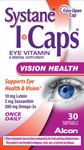 Systane I-Caps Eye Vitamin & Mineral Supplement Softgels Perspective: front