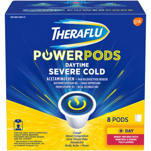 Theraflu Daytime Severe Cold Power Pods 8 Count Perspective: front