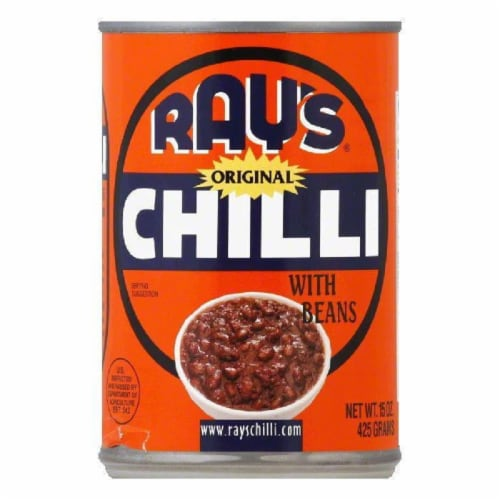 Ray's Chili Original Chilli with Beans, 15 OZ (Pack of 12) Perspective: front