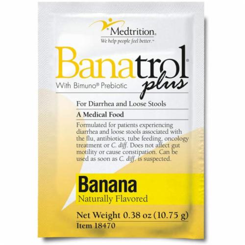 Oral Supplement Banatrol Plus Banana Flavor Powder 10.75 Gram Individual Packet (21 Pack) Perspective: front