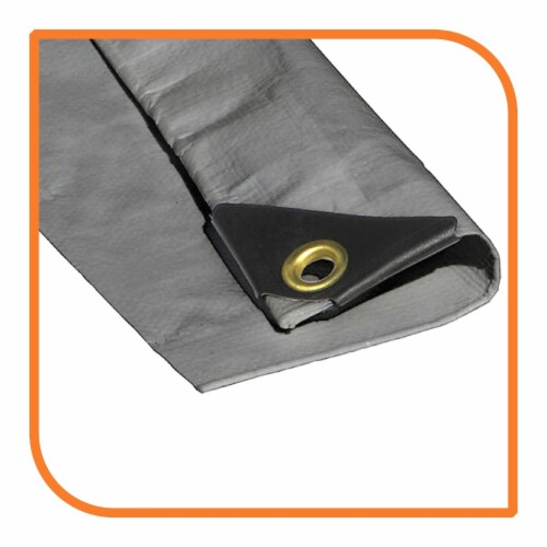 """VS Connections - 12 Mil Heavy Duty Tarp - Canopy - Multipurpose Protective Cover - 6"""" x 10"""" Perspective: front"""