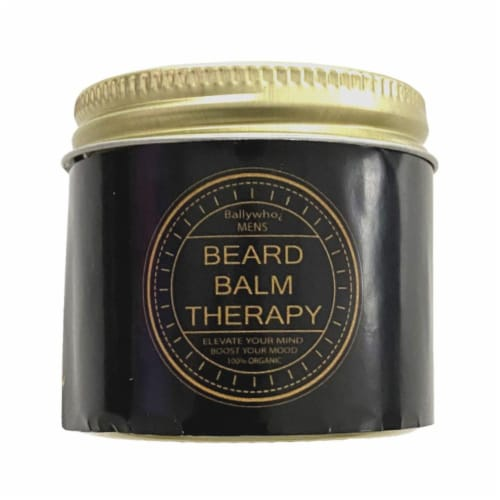 BALLYWHO Beard Balm (Date Night) Natural Organic Ingredients 2oz Perspective: front