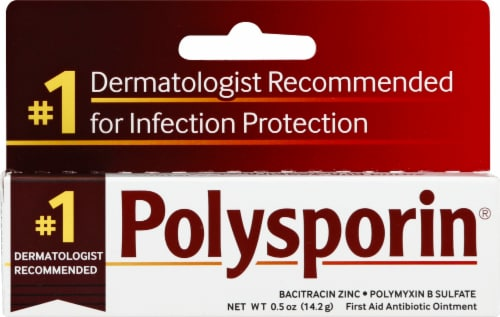 Polysporin First Aid Antibiotic Ointment Perspective: front