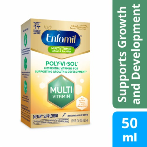 Enfamil Poly-Vi-Sol Multivitamin Supplement Drops Perspective: front