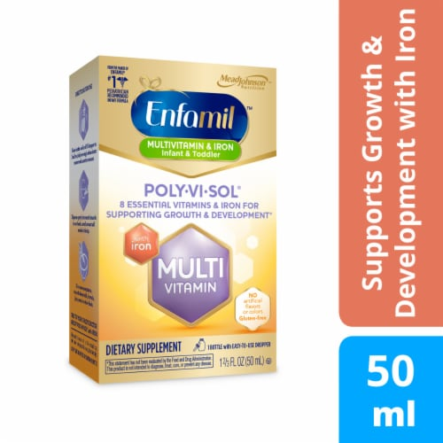 Enfamil Poly-Vi-Sol with Iron Multivitamin Supplement Perspective: front