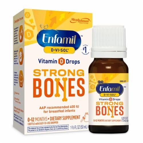 Enfamil D-Vi-Sol Liquid Vitamin D Supplement Perspective: front