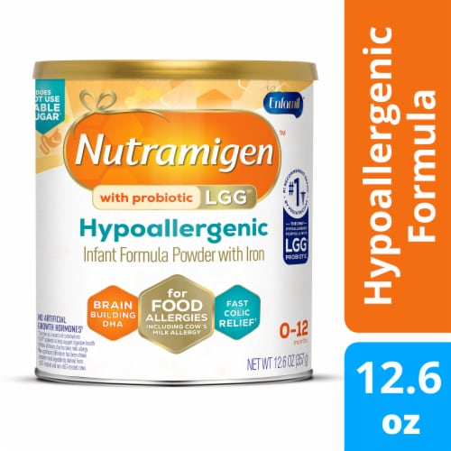 Enfamil Nutramigen with Enflora LGG Hypoallergenic Infant Formula Powder with Iron Perspective: front