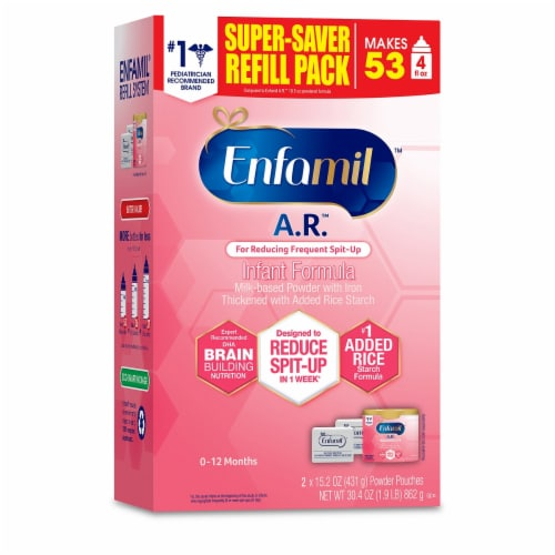 Enfamil A.R. Infant Forumula Powder Pouches Perspective: front
