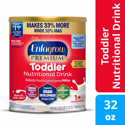 Enfagrow Premium Toddler Nutritional Drink Powder Baby Formula Perspective: front