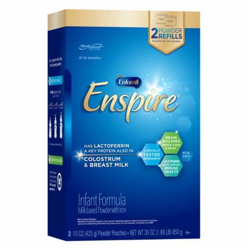 Enfamil Enspire Non-GMO Infant Formula Powder Refills Perspective: front