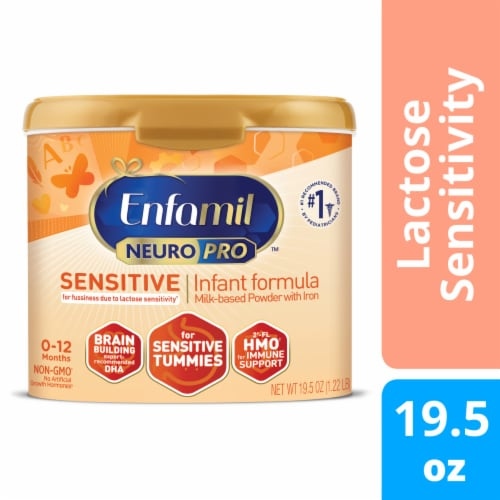 Enfamil NeuroPro Sensitive Infant Formula Milk-Based Powder with Iron Perspective: front