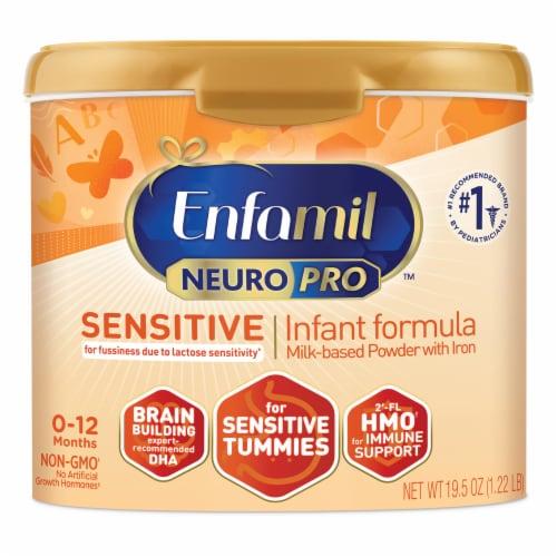 Enfamil NeuroPro Sensitive Infant Formula Milk-Based Powder with Iron Perspective: front