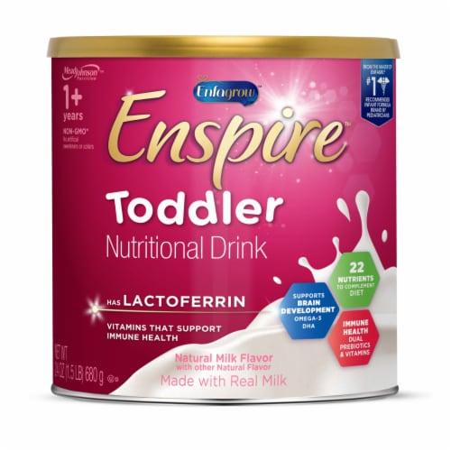 Enfagrow Enspire Natural Milk Flavor Toddler Nutritional Drink Perspective: front