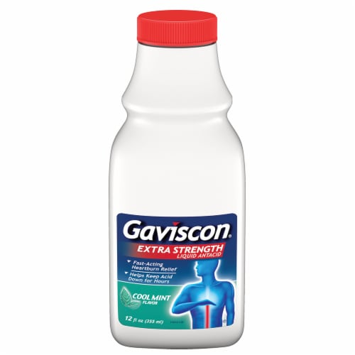 Gaviscon Extra Strength Cool Mint Liquid Perspective: front
