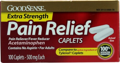 Good Sense Pain Relief Extra Strength Acetaminophen Perspective: front