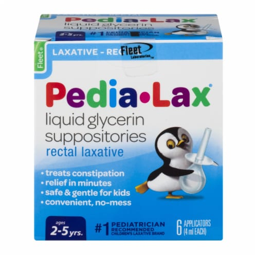 Fleet Pedia-Lax Liquid Glycerin Suppositories Perspective: front