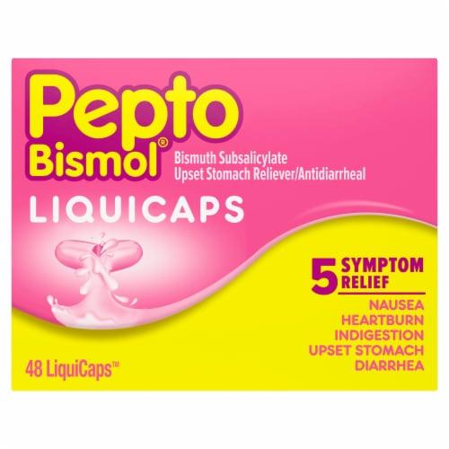 Pepto-Bismol Multi-Symptom Rapid Relief LiquiCaps Perspective: front