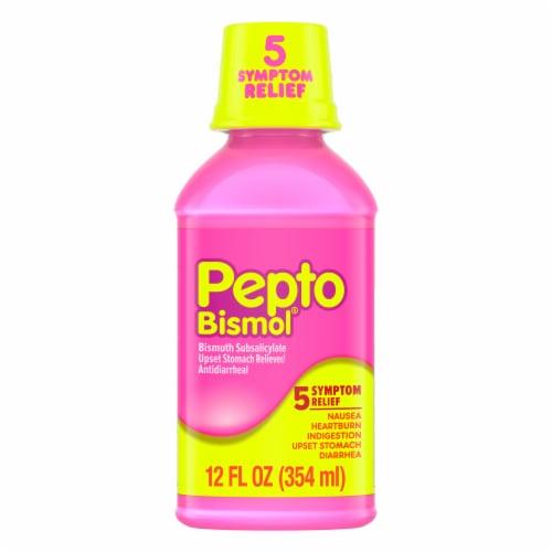 Pepto-Bismol Multi-Symptom Digestive Relief Liquid Perspective: front