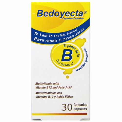 Bedoyecta Multi-Vitamin with Vitamin B12 Capsules Perspective: front