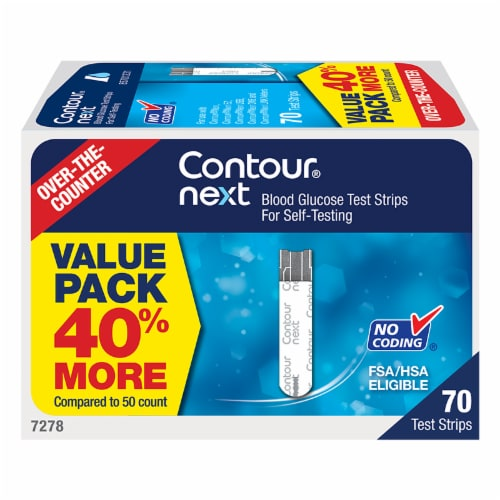 Contour Next Blood Glucose Test Strips Perspective: front