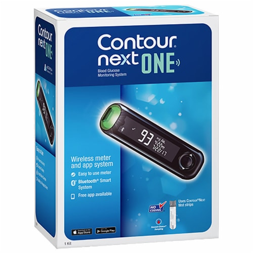 Contour Next ONE Blood Glucose Meter Perspective: front