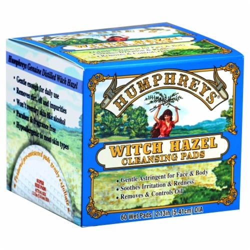 Humphrey's Witch Hazel Cleansing Pads Perspective: front