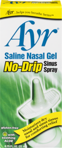 Ayr Saline No Drip Nasal Gel Sinus Spray Perspective: front