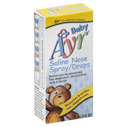 Baby Ayr Saline Nose Spray/Drops Perspective: front