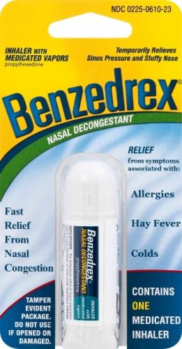 Benzedrex Nasal Decongestant Inhaler Perspective: front