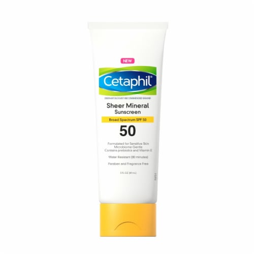 Cetaphil Sheer Mineral Sunscreen SPF 50 Perspective: front